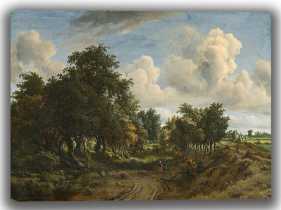 Hobbema, Meindert: A Wooded Landscape. Fine Art Canvas. Sizes: A4/A3/A2/A1 (003947)